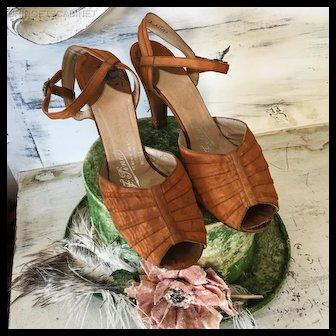Original 1920's Flapper Shoes F. Pinnet Charleston Gatsby