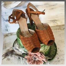 Original 1920's Flapper Shoes F. Pinnet Charleston Gatsby