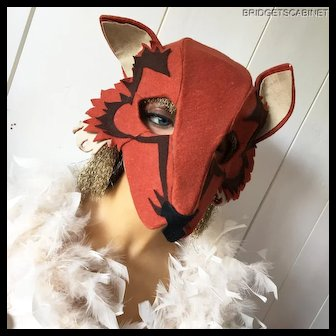 1920's French Theater Stage Mask Flapper Costume Headdress Showgirl Burlesque
