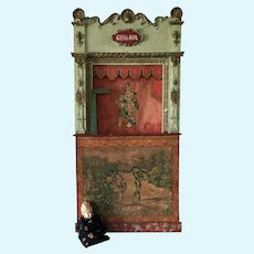19th. Century Large Size French Guignol Puppet Theater Commedia Dell'arte