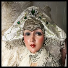 1920's Folies Bergeres Stage Headdress Hat Flapper Theater
