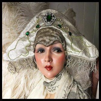 1920's Folies Bergeres Stage Headdress Hat Flapper Theater