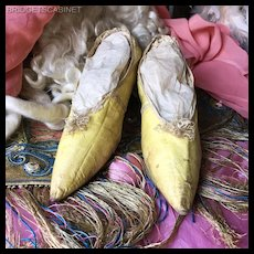 18th. Century Marie Antoinette leather Shoes Costume Fashion