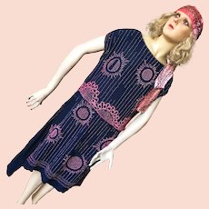 1920's Shabby Flapper Dress Charleston Beaded