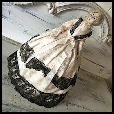 Antique Rare 18.5 inch Half Doll Style Lilli Baitz