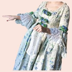 Beautiful Marie Antoinette Stage Theater Dress Gown Costume