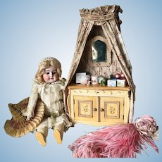 19th. Century French Toilette Vanity Dressing Table Table Marie Antoinette Cabinet