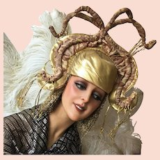 Vintage Stage Theater Showgirl Headpiece Hat Headdress Costume