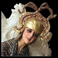 Vintage Stage Theater Showgirl Headpiece Hat Headdress Costume