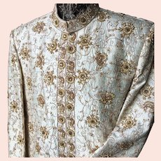 Stunning French Stage Poiret Style Maharadja Coat Gold Embroidery