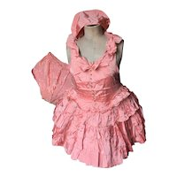 1920's Folies Bergeres Stage Pink Dance Costume Showgirl