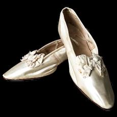1920's Silk Wedding Ball Shoes Flapper Charleston