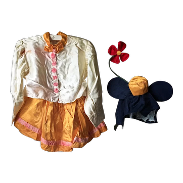 1940's Minnie Mickey Mouse Stage Costume Child Vintage Toys