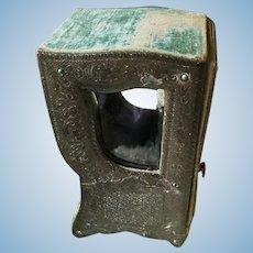 19th. Century French Sedan Chair Doll Boudoir Vitrine Boudoir