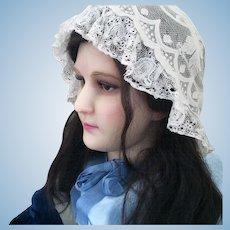 Wax head mannequin 1920 doll human hair French
