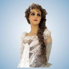 Wax 1920 Mannequin Bust head art Nouveaux France