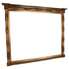 19th C Monumental American Federal Gilt Mirror
