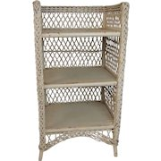 Bar Harbor Wicker Bookcase