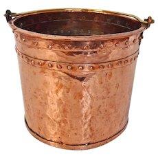 19th C Dutch Copper Bucket