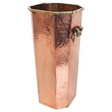 Hammered Copper Umbrella Stand