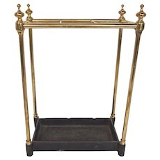 English Brass Umbrella Stand