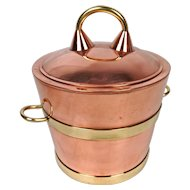 Vintage Copper and Brass Ice Bucket