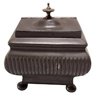 19th C English Regency  Pewter Tea Caddy