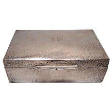 Hammered Vintage Silver Cigarette Case