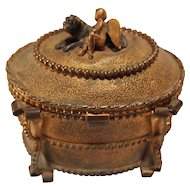French Gilt Bronze Jewelry Box/Casket
