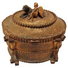 French Gilt Bronze Jewelry Box/Casket