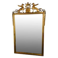 French Gilt Carved and Gesso Mirror