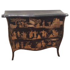Chinoiserie Marble Top Chest