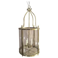 Large Brass Regency Hall Lantern