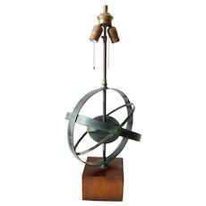 Mid-Century Armillary Lamp