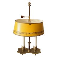 Italian Brass and Tole Bouillotte Lamp