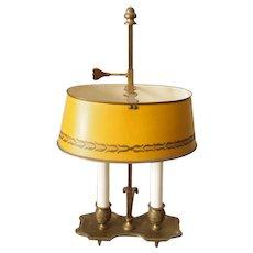 Italian Brass and Tole Bouillotte Lamp