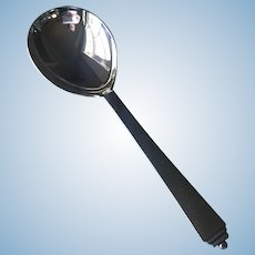 Vintage Georg Jensen Sterling Silver Pyramid Serving Spoon Large
