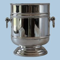 "Vintage Christofle France Pattern Silver Plated ""Perle"" Champagne Bucket"