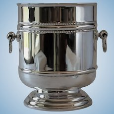 """Vintage Christofle France Pattern Silver Plated """"Perle"""" Champagne Bucket"""