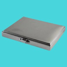Georg Jensen Sterling Silver Pyramid Cigarette Box, No.225 by Harald Nielsen