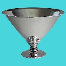 Georg Jensen Sterling Silver Triangular Hammered Bowl, No259 by Gundorph Albertus