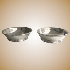 Georg Jensen Sterling Silver Art Deco Footed Dish, pair, No.158B