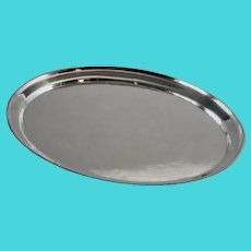 Georg Jensen Sterling Silver Small Hammered Oval Tray, No.223C