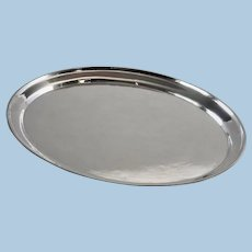 Georg Jensen Sterling Silver Small Hammered Oval Tray, No.223A