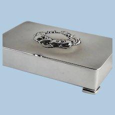 Georg Jensen Sterling Silver Keepsake Box, No. 507B by Gundorph Albertus