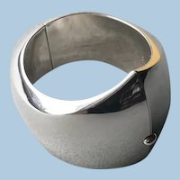 Georg Jensen Sterling Silver Modernist Cuff by Nanna Ditzel, No. 107