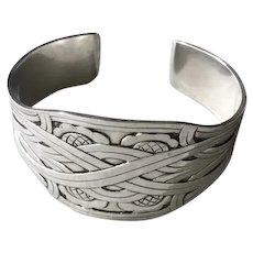"""Georg Jensen Sterling Silver """"Celtic"""" Cuff Bracelet No. 55 by Harald Nielsen"""