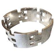 Hans Hansen Sterling Silver Modernist Bracelet, Very Rare