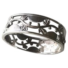 Georg Jensen Sterling Silver Art Deco Bangle, No. 66