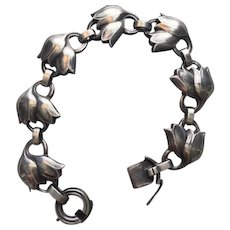 "Georg Jensen Sterling Silver ""Tulip"" Bracelet No. 100B"